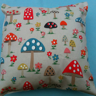 2 x cushion,pillow ,decorative covers,quilt in cath kidston mushroom   fabric