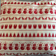 Christmas cushion cover,quilt in scandanavian design linen  fabric