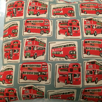 Cushion,pillow cover,decorative cover,quilt in cath kidston london buses fabric