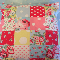 Cushion,pillow cover,decorative cover,quilt in cath kidston patchwork fabric
