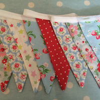 10 ft bunting,banner,flag,wedding,event in cath kidston cotton  fabrics