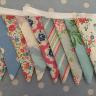 10 ft double sided bunting,banner,wedding,event,flag in Cath Kidston fabrics