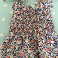 snock style summer  floral cotton fabric  summer  dress