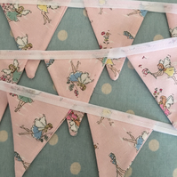 4 ft Mini  Bunting in Cath Kdston Fairy fabric,banner,flag,wedding,event