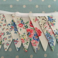 3 m Cath kidston fabric bunting,banner,flag,wedding,event