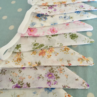 10 ft Bunting in cream  cotton  fabrics,banner,flag,wedding,event,party,garden