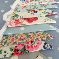 3m Cath kidston cotton fabric bunting,banner,flag,pennant,wedding,event