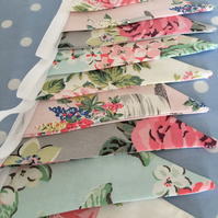 10 ft Cath kidston cotton fabric bunting,banner,wedding,event