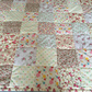 Patchwork quilt, throw,bed spread, blanket in floral, shabby chic cotton fabrics