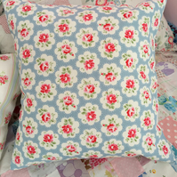 Cath kidston blue provence rose  cotton duck fabric cushion cover