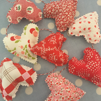Penny rose fabric mini heart bunting
