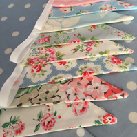 10 ft Cath kidston cotton fabric bunting