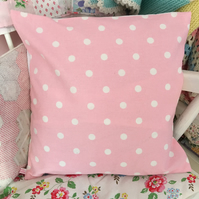 Cushion cover in Cath Kidston pink spot cotton duck fabric