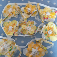 Yellow cotton Flower bunting