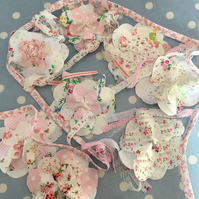 Shabby chic cotton Flower bunting