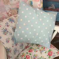 Cath kidston Duck egg blue Spot cotton duck fabric cushion cover