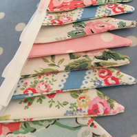 Cath kidston mini cotton fabric bunting, banner, wedding,party flags