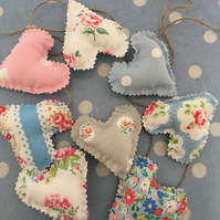 Cath kidston fabric mini fabric bunting, garland with twine