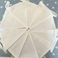 White cotton fabric bunting,banner,flag,wedding,event