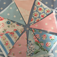 Cath kidston cotton fabric bunting, banner, wedding,party flags