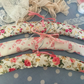3 pretty shabby chic fabric overed hangers