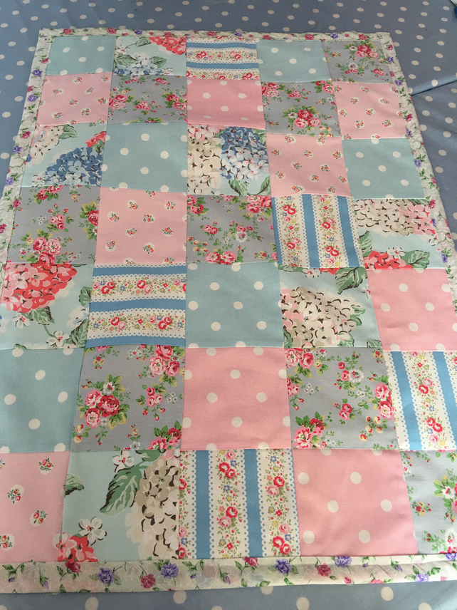 Cath kidston fabric Patchwork quilt, throw,bedspread, cot quilt