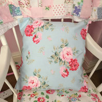 Cushion cover in Cath Kidston Antique rose cotton duck fabric