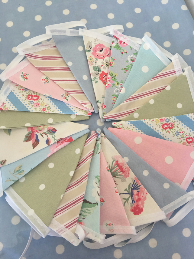 20 ft Cath kidston cotton fabric ,wedding,party flags