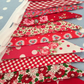 Red  cotton fabric bunting, banner, wedding,party flags