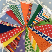 20 ft  Festival cotton fabric ,wedding,party flags