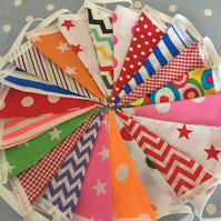 Festival,circus themed  cotton fabric bunting, banner, wedding,party flags
