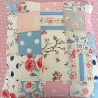 Patchwork cushion cover in Cath Kidston  Cotton  fabrics
