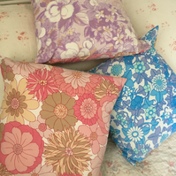 Vintage  cotton  fabric cushion cover