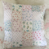 Shabby chic patchwork cushion cover