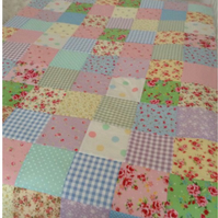 Single patchwork quilt,bedspread,Throw,blanket