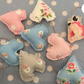 Shabby chic Cath Kidston fabric Mini heart garland ,bunting