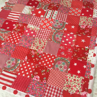 Red patchwork quilt,Bedspread ,bedding