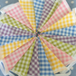 Gingham bunting cotton fabric ,wedding,party flags