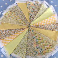 20 ft yellow bunting in  Cotton fabrics