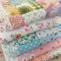 Single Patchwork quilt, Blanket, throw