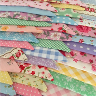 50 ft summer  buntings in  Cotton fabrics