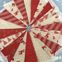 Christmas  bunting in  Cotton fabrics