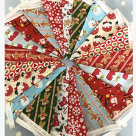 Children's Christmas bunting in Cotton fabrics