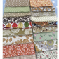 "30 x 5"" cotton fabric squares"