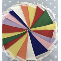 20 ft festival , carnival bunting  fabric bunting, banner, wedding,party flags