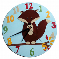 Blue Fox Clock