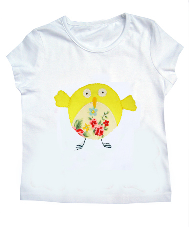 Girls Easter Bird Floral T-Shirt