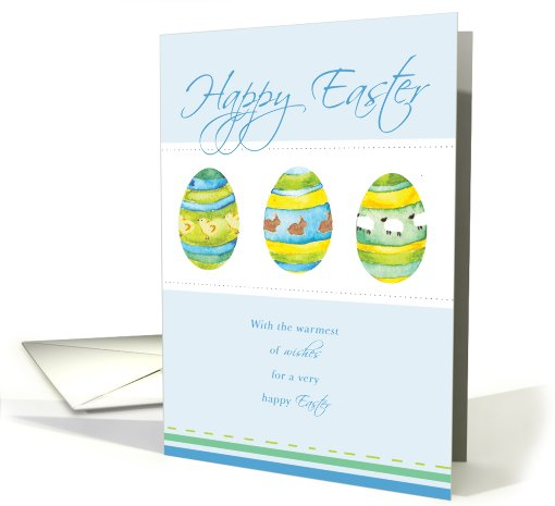 Blue Easter Egg Easter Card