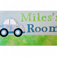 Car Door Sign  Name Plaque