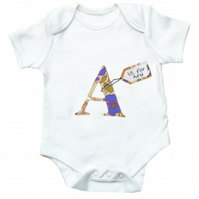 Personalised Alphabet Babygrow